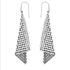Swarovski mesh drop earrings